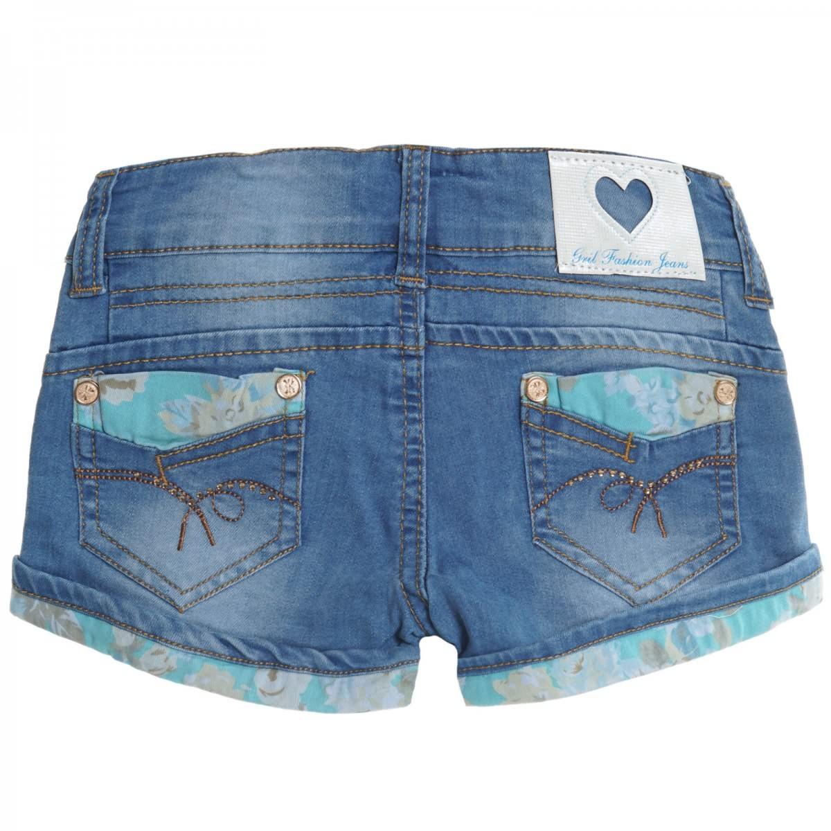 Details zu Kinder Mädchen Kurze Hose Bermuda Shorts Sommer Capri Pump Pants Jeans 20411