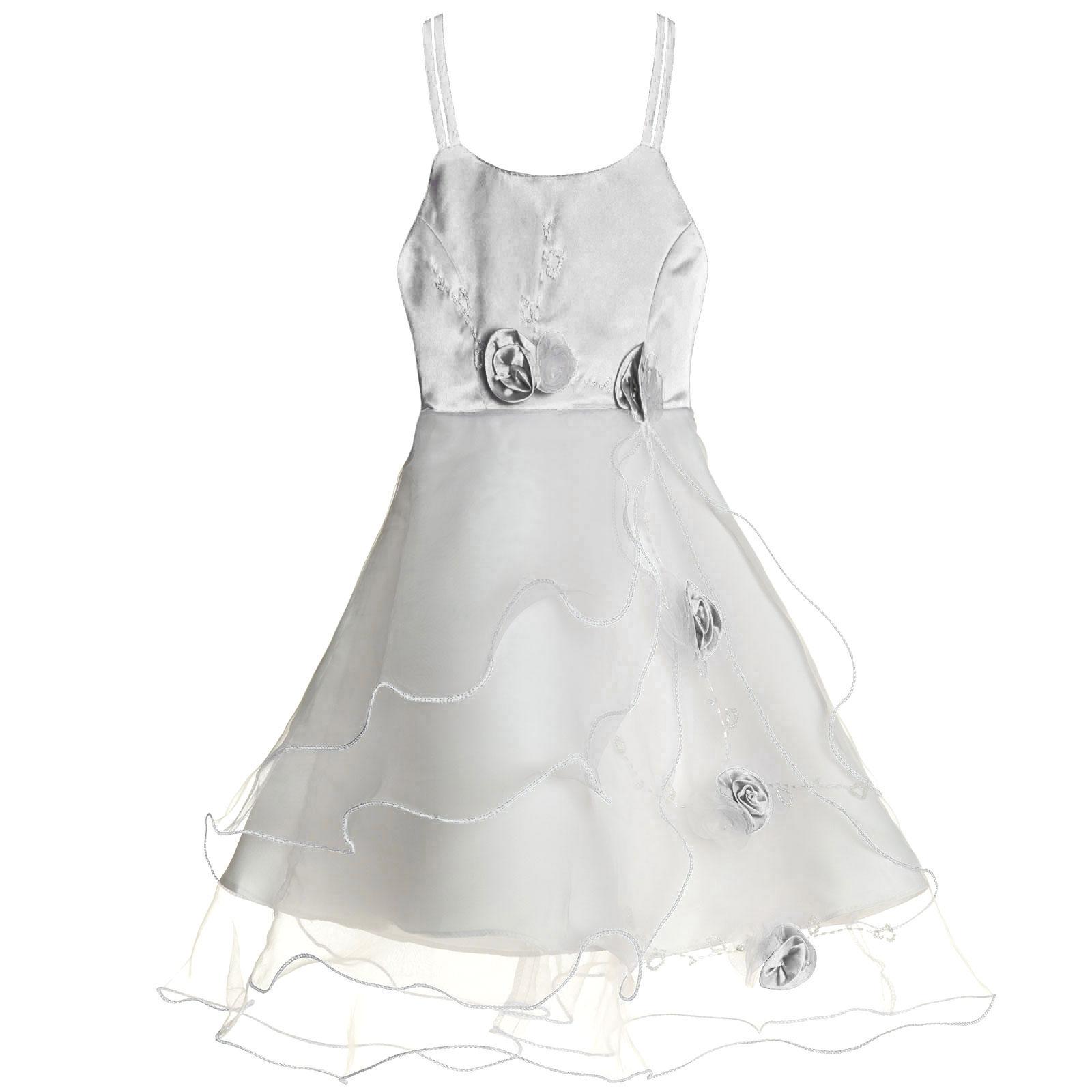 Maedchen-Kinder-Kleid-Peticoat-Festkleid-Lang-Arm-Kostuem-mit-Bolero-Rose-21476 Indexbild 24