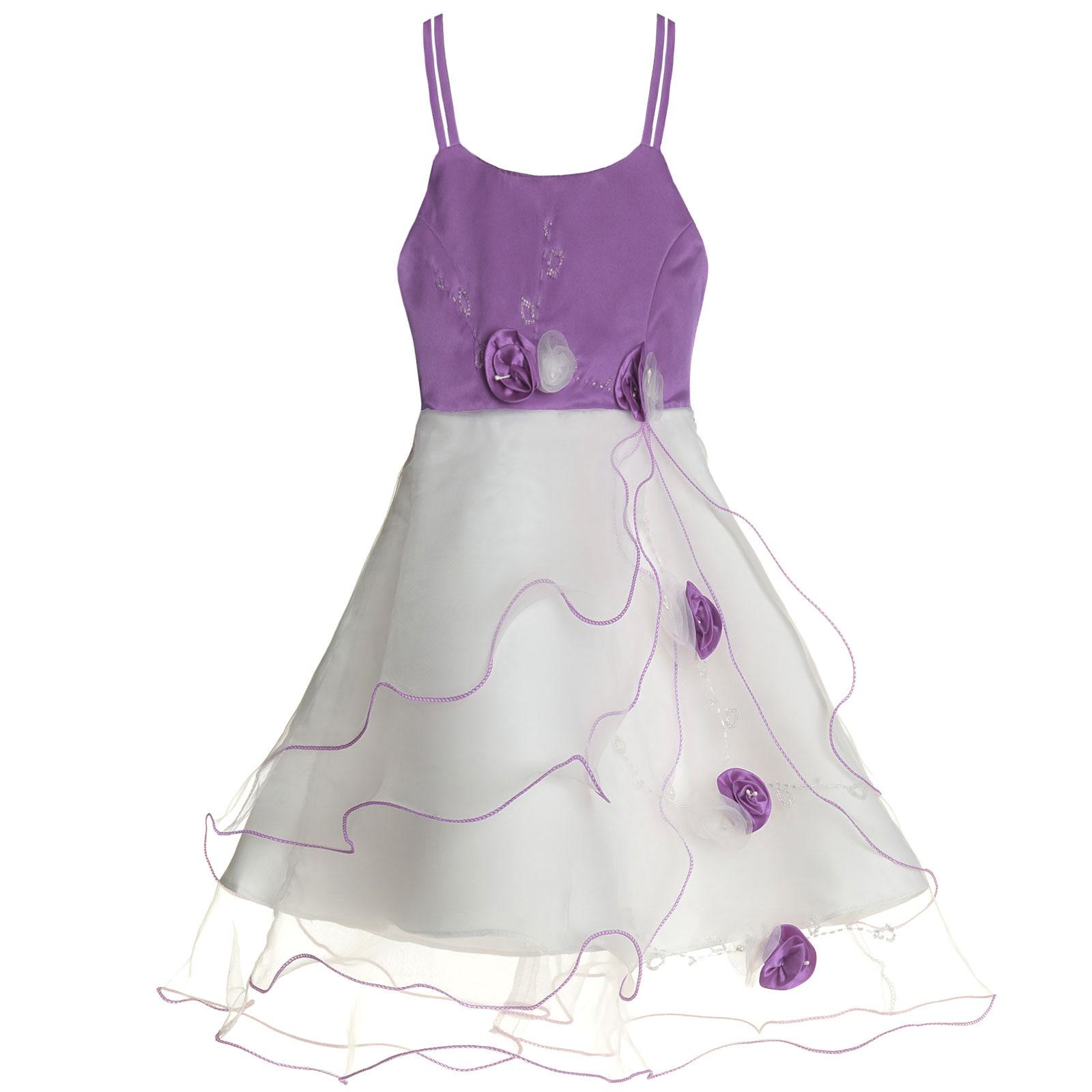 Maedchen-Kinder-Kleid-Peticoat-Festkleid-Lang-Arm-Kostuem-mit-Bolero-Rose-21476 Indexbild 8
