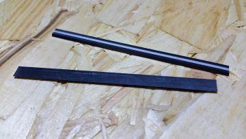 HM inflexión cuchillo 80,5x5,5x1,1 mm hobelmesser cuchillo cepilladora AEG Bosch universal