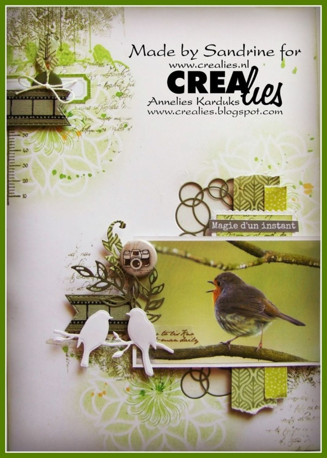 Crealies Crea-Nest-Lies XXL no 61 Stanzschablone Tags mit Stich
