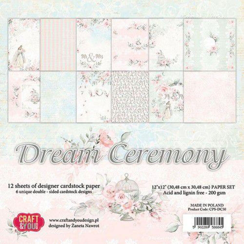 200g-Dream Ceremony 12 hoja Craft /& you Design papel bloque 30,5 x 30,5cm