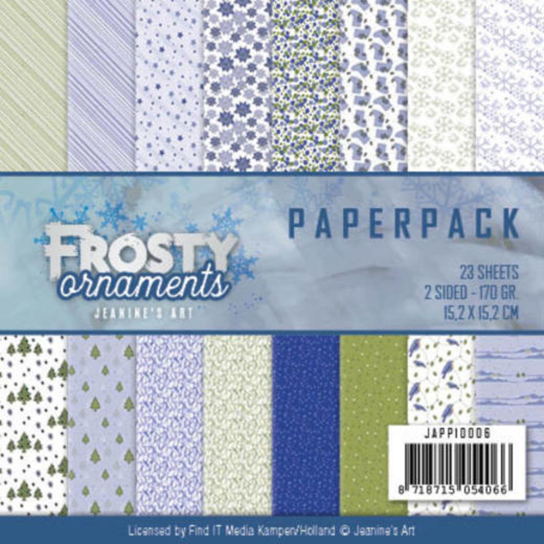 Glitterkarton Paperpack 1-15,2  x 15,2cm  230g//m² 16 Bögen