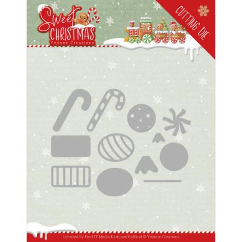 und Prägeschablone Sweet merry Christmas 3tlg. CraftEmotions Stanz