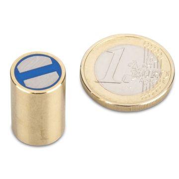 SmCo-Stabgreifer /Ø 8 x 20 mm Messing Temperatur 200/°C anisotrop Passung h6-2,2 kg Samarium-Cobalt-Magnet Toleranz h6 max