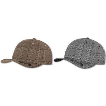 Details zu Flexfit Cap Mütze Kappe Glen Check Flex Fit Original Hut Capi Kopfbedeckung Hat