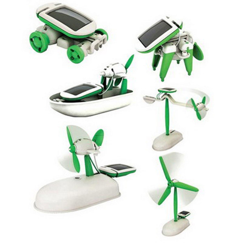 roboter spielzeug ab 8 jahren solar robot 6 in 1 kit diy baukasten ebay. Black Bedroom Furniture Sets. Home Design Ideas