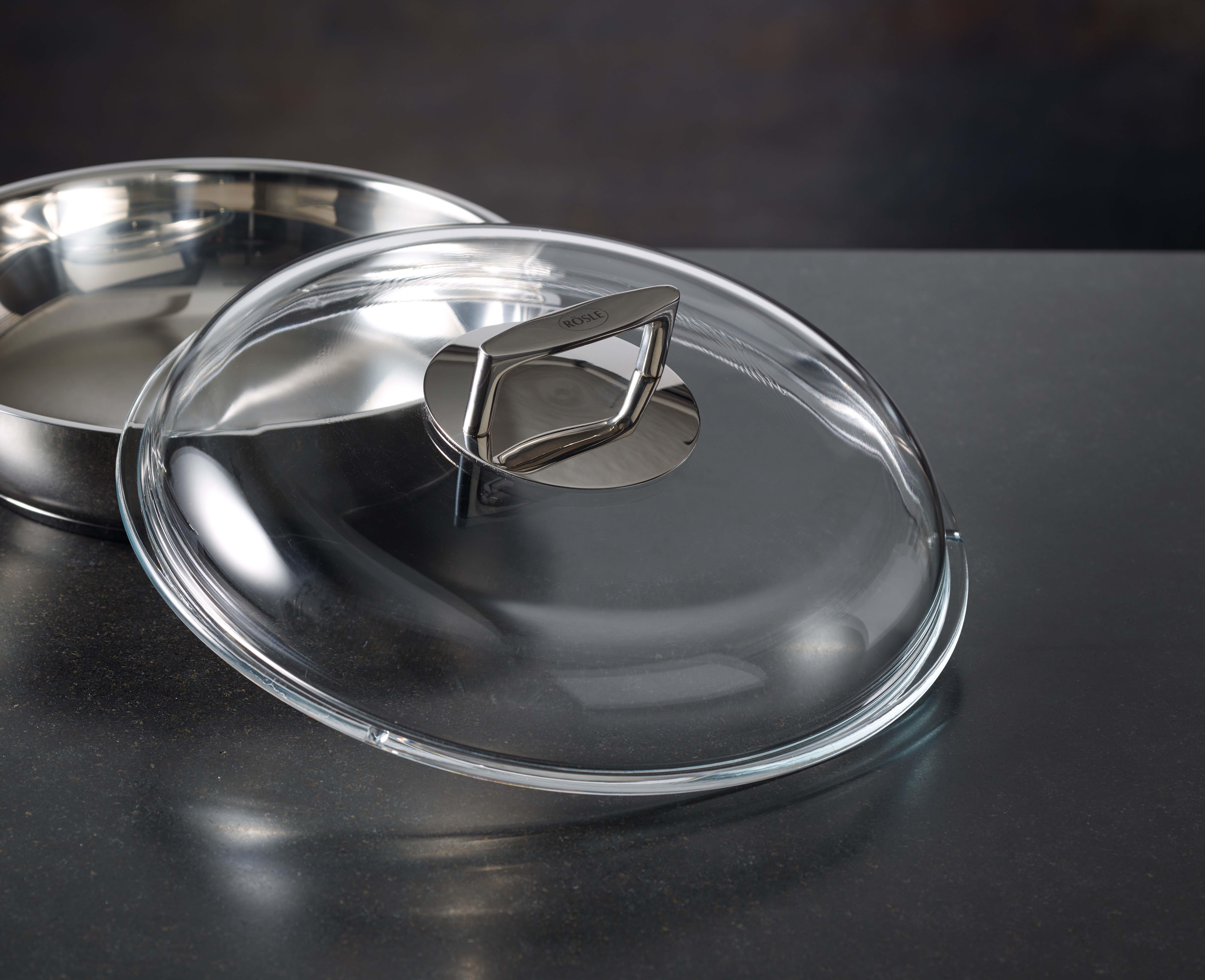 Rösle SERIE silence couvercle en verre borosilicaté 28 cm