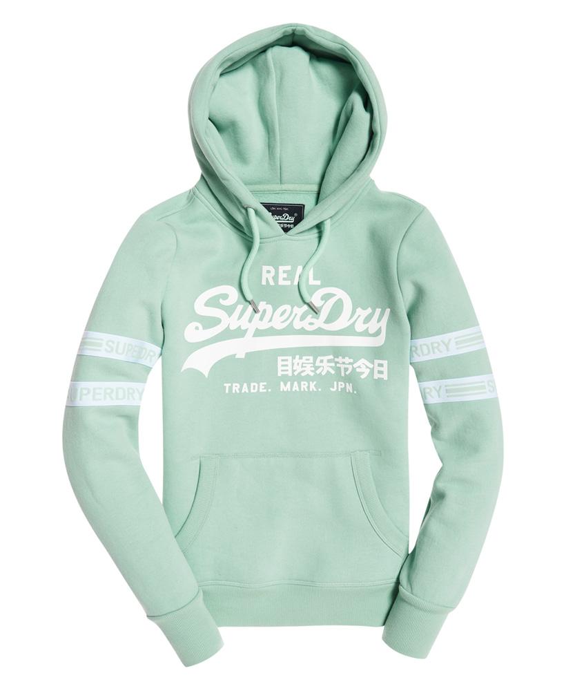Superdry Felpa da Donna Vintage Logo Hoodie Con Nastro Pullover Con Cappuccio Pullover