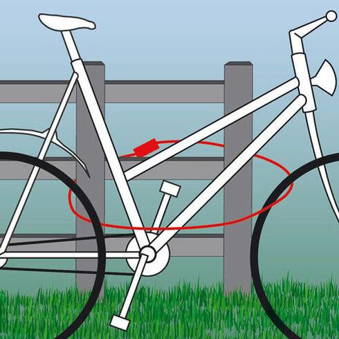 Fahrrad Gartenmöbel Sicherung Set 2,5 Meter Powerfix Mehrzweck Stahlkabel