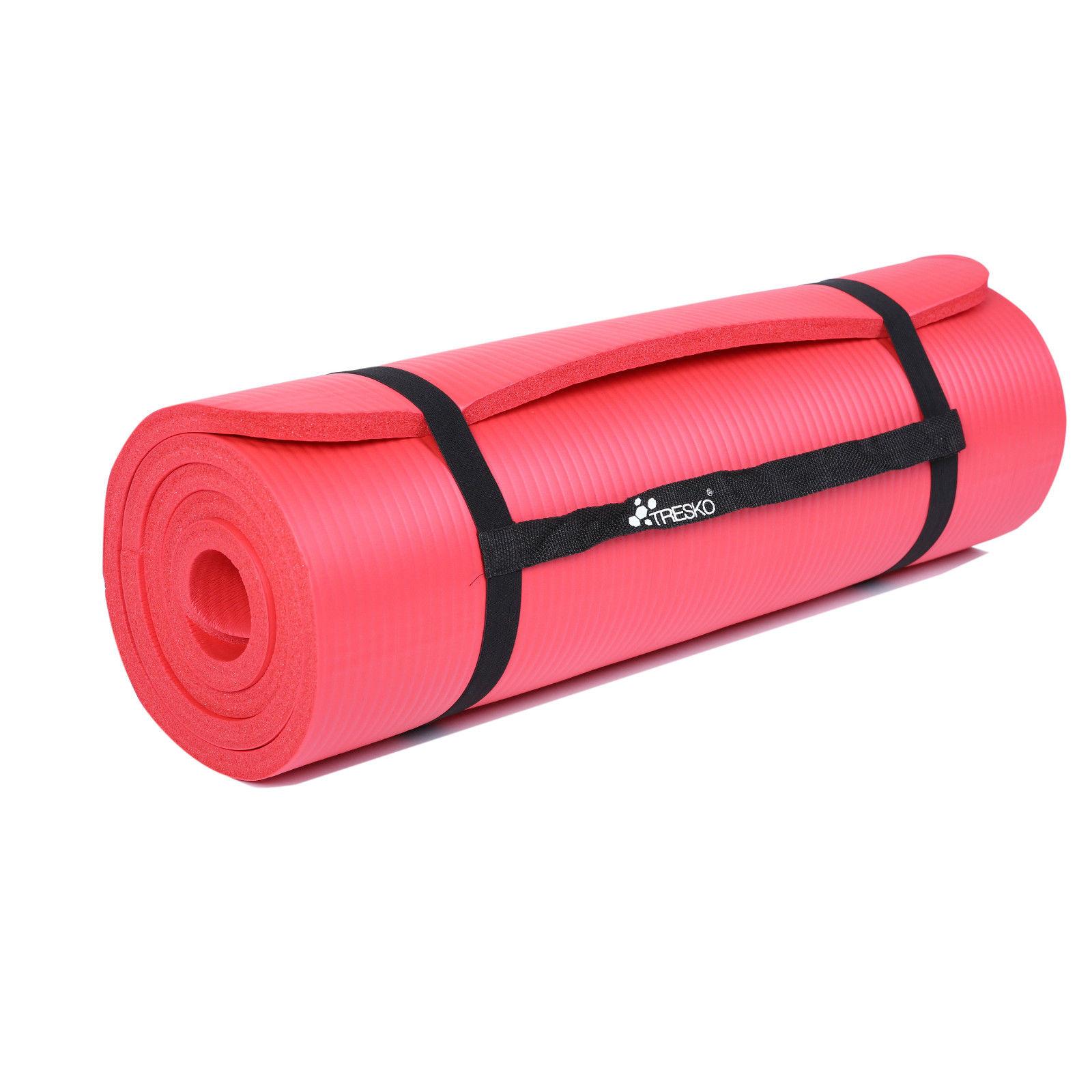 Yogamatte-Fitnessmatte-Gymnastikmatte-Pilates-Sportmatte-Bodenmatte-PHTHALATFREI Indexbild 22