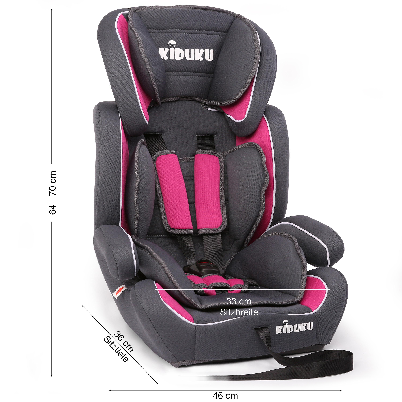KIDUKU® Seggiolino auto cresce con il bambino sedile universale Gruppo 1+2+3