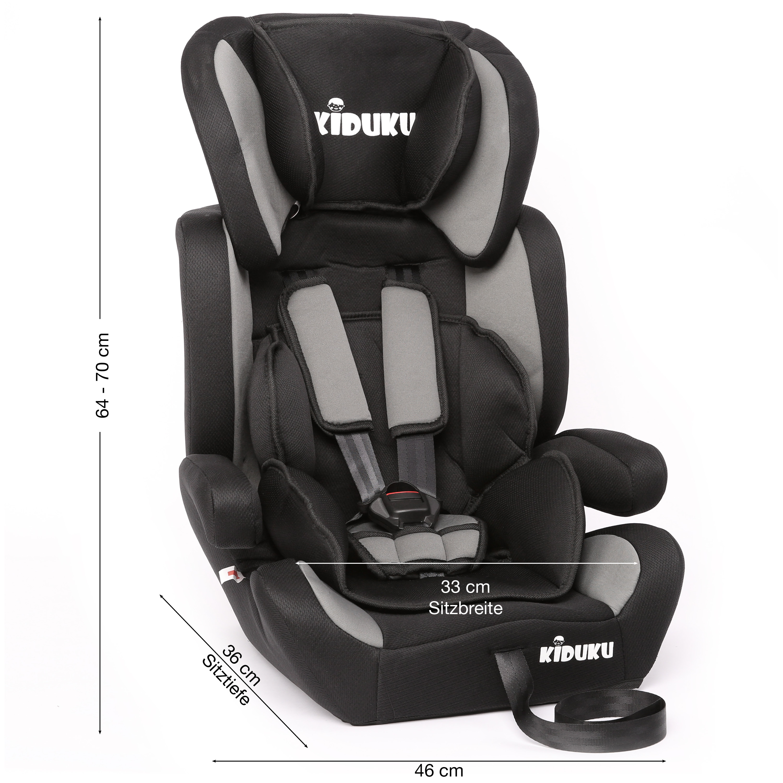 miniatura 49 - KIDUKU® Seggiolino auto cresce con il bambino sedile universale Gruppo 1+2+3