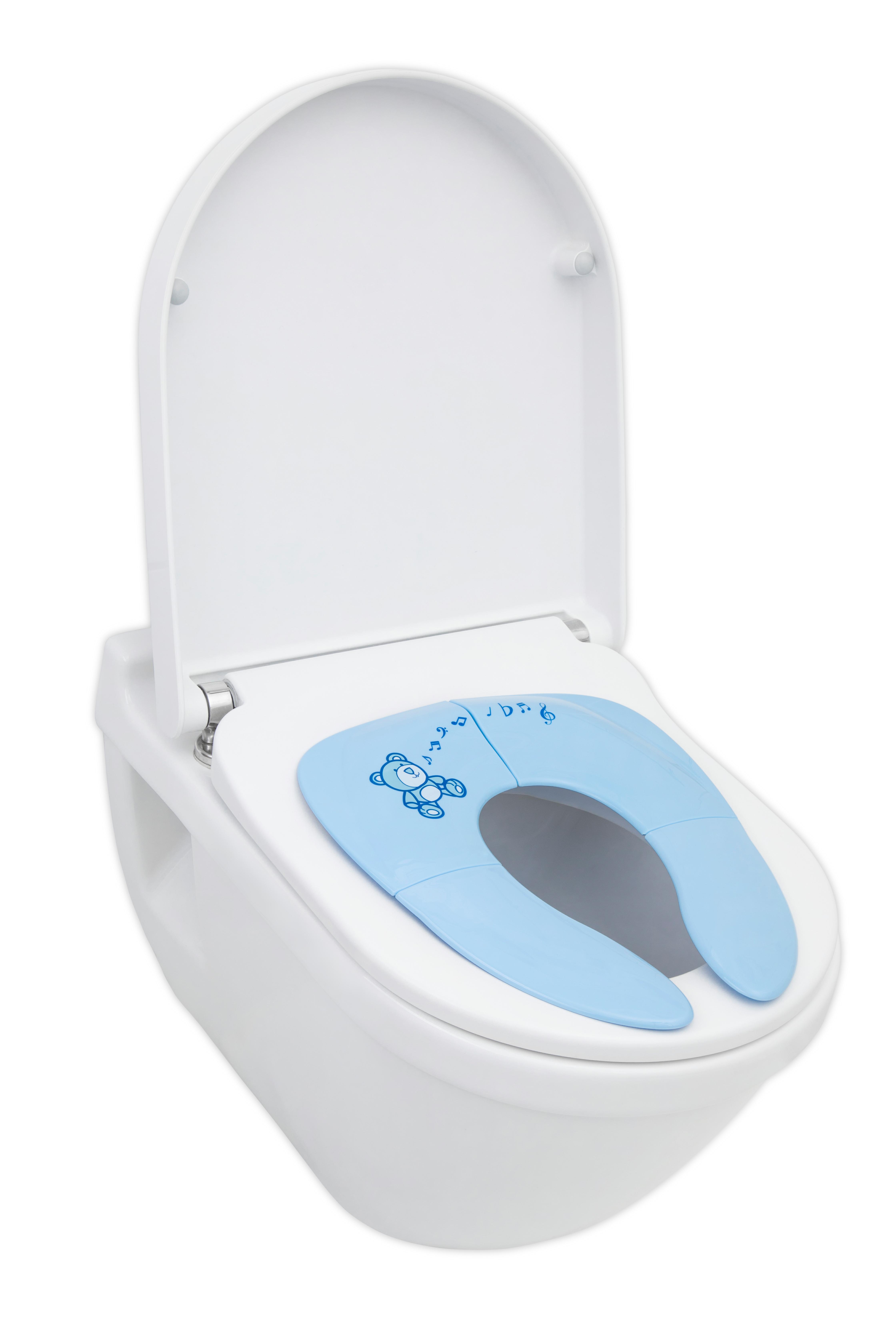 wc sitz faltbar sitzverkleinerer kinder toilettensitz toilettentrainer klobrille ebay. Black Bedroom Furniture Sets. Home Design Ideas