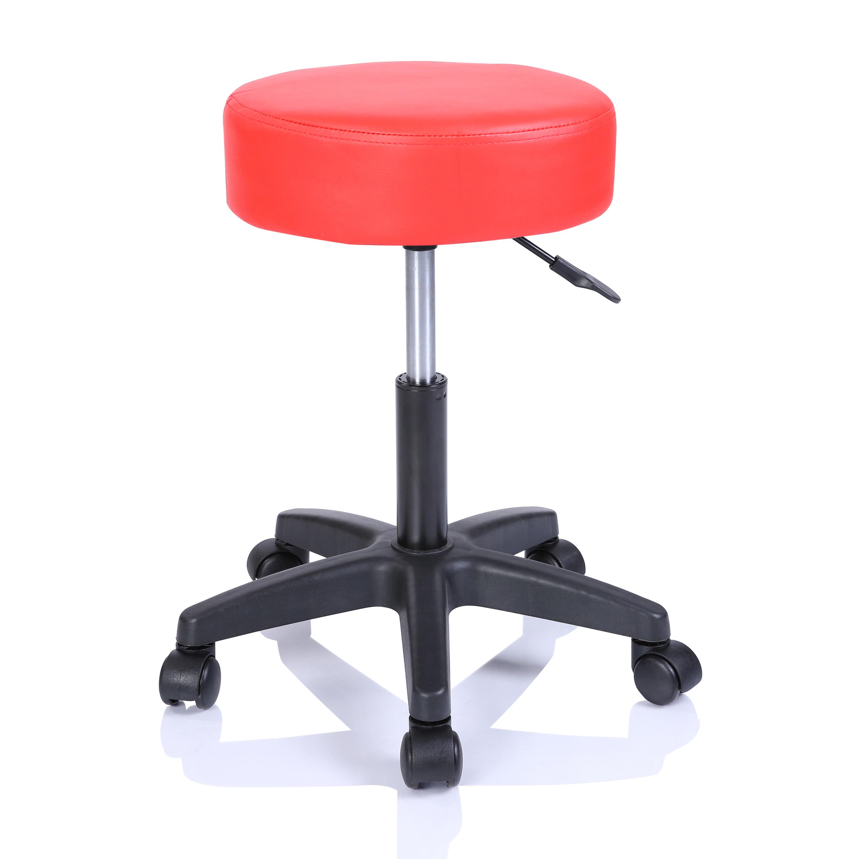 Rollhocker Arbeitshocker Hocker Drehhocker Kosmetikhocker Praxishocker Farbwahl Rot