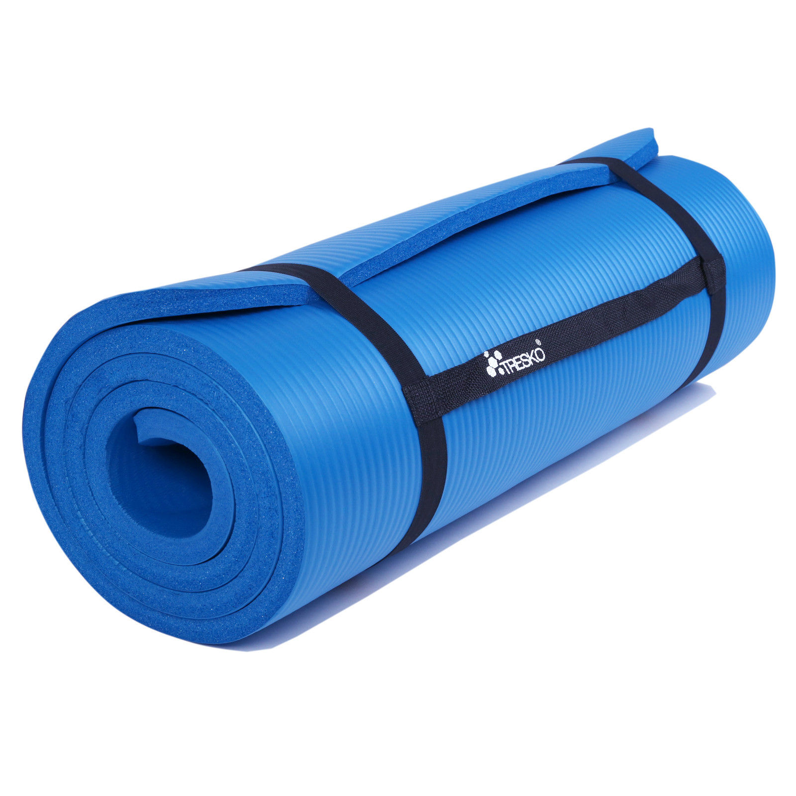 TRESKO® Large Padded Fitness Yoga Mat w Carry Handle