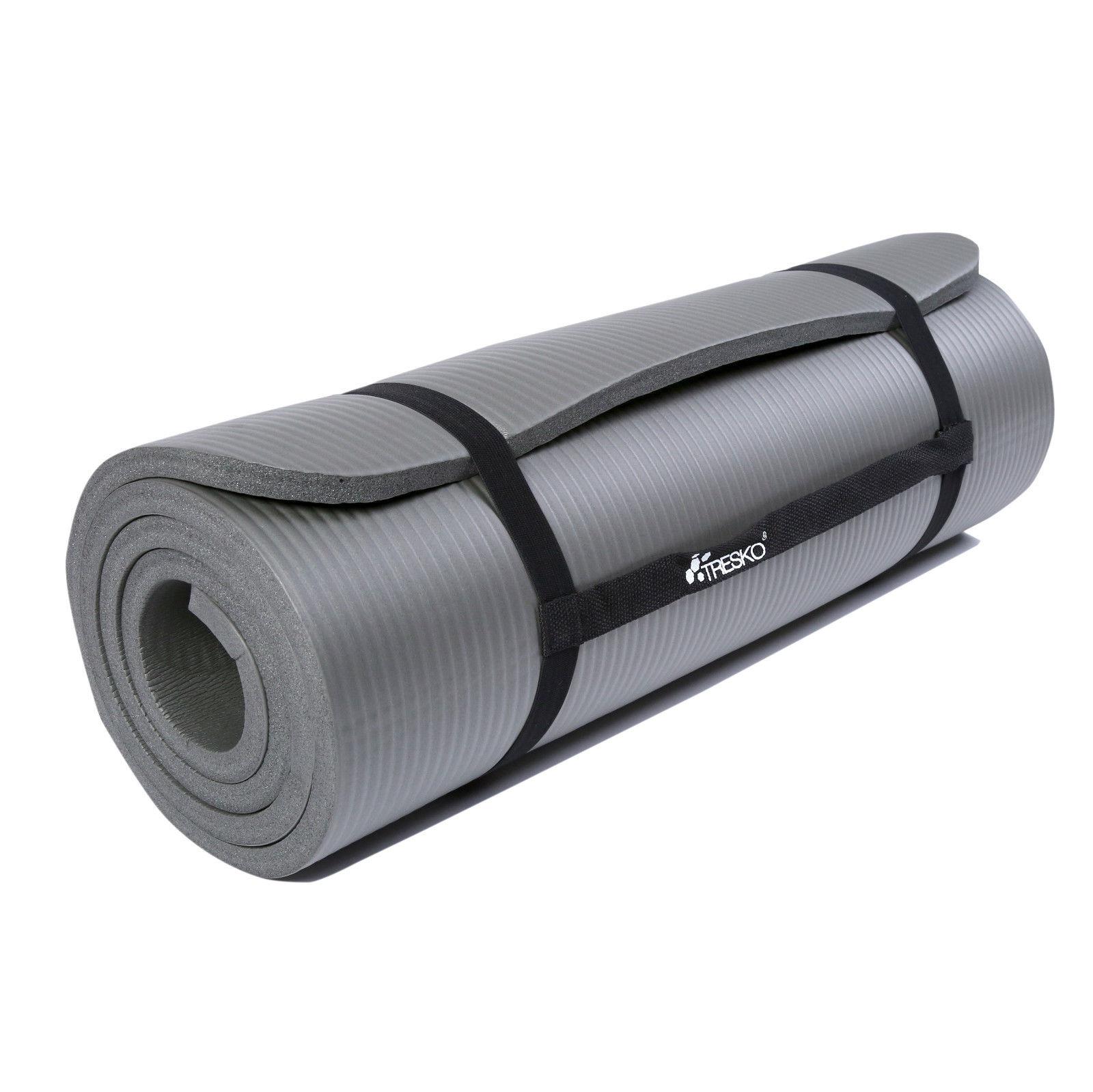 Yogamatte-Fitnessmatte-Gymnastikmatte-Pilates-Sportmatte-Bodenmatte-PHTHALATFREI Indexbild 10