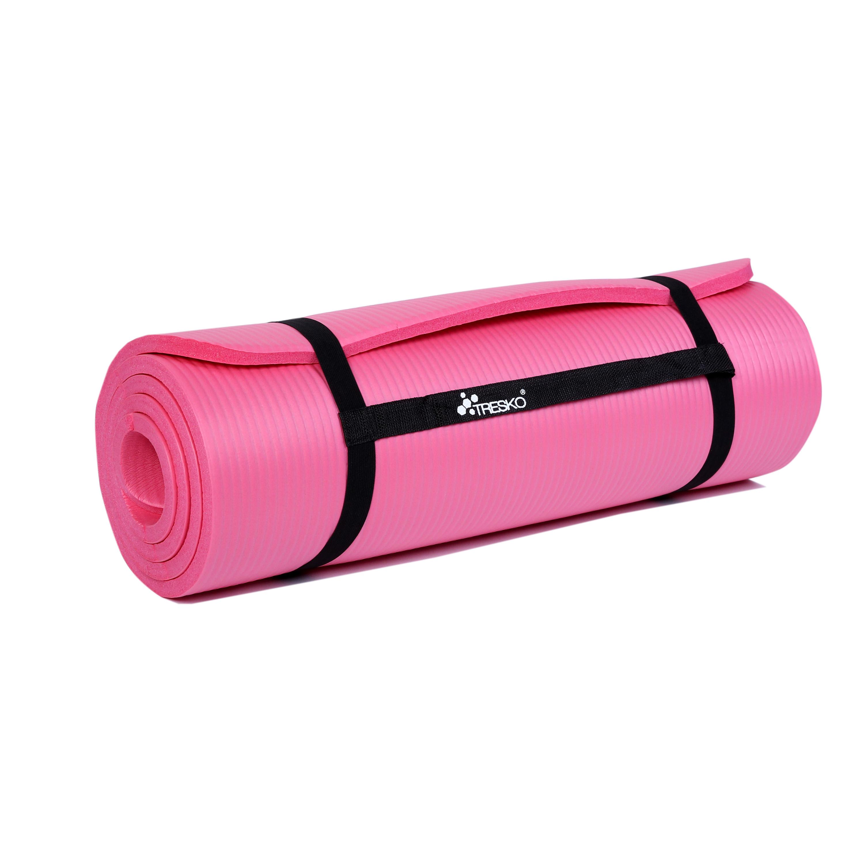 Yogamatte-Fitnessmatte-Gymnastikmatte-Pilates-Sportmatte-Bodenmatte-PHTHALATFREI Indexbild 19