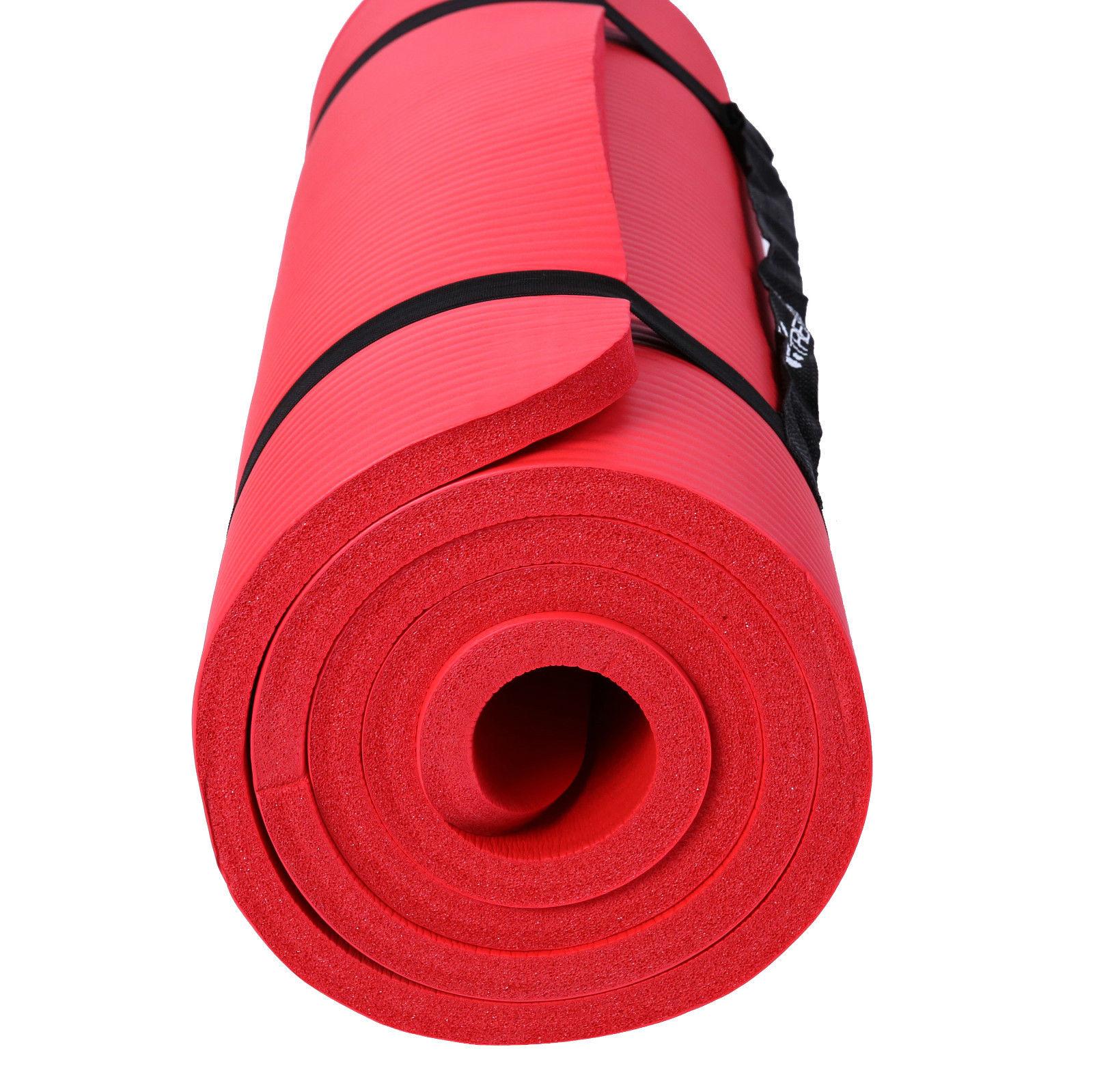 Yogamatte-Fitnessmatte-Gymnastikmatte-Pilates-Sportmatte-Bodenmatte-PHTHALATFREI Indexbild 23