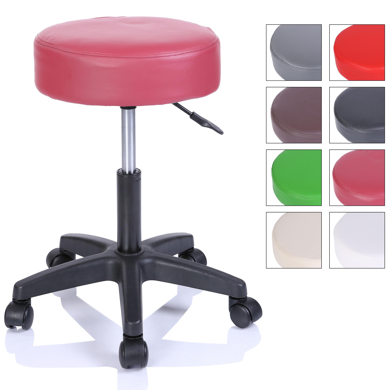 Rollhocker Arbeitshocker Hocker Drehhocker Kosmetikhocker Praxishocker Farbwahl