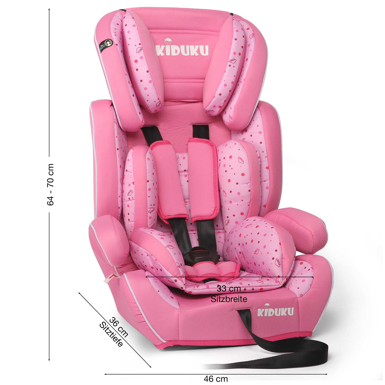 miniatura 32 - KIDUKU® Seggiolino auto cresce con il bambino sedile universale Gruppo 1+2+3