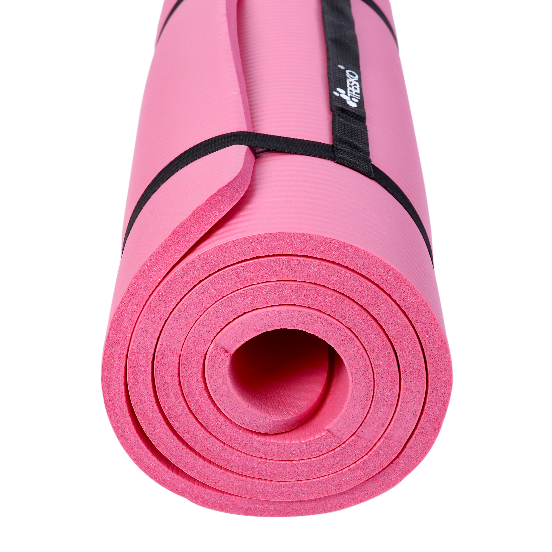 Yogamatte-Fitnessmatte-Gymnastikmatte-Pilates-Sportmatte-Bodenmatte-PHTHALATFREI Indexbild 20