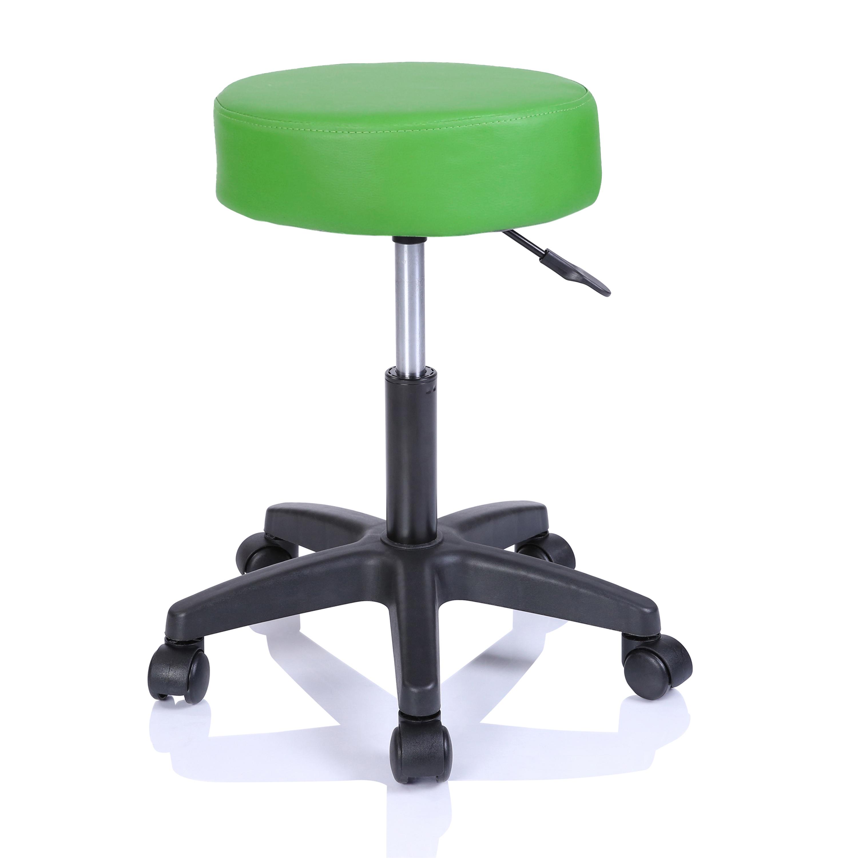 Rollhocker Arbeitshocker Hocker Drehhocker Kosmetikhocker Praxishocker Farbwahl Grün