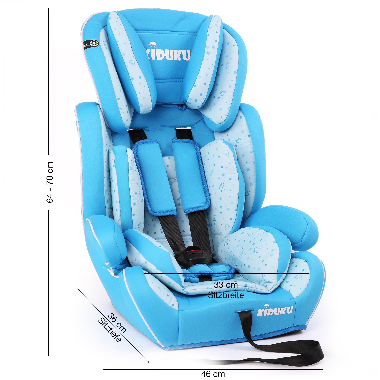 miniatura 22 - KIDUKU® Seggiolino auto cresce con il bambino sedile universale Gruppo 1+2+3