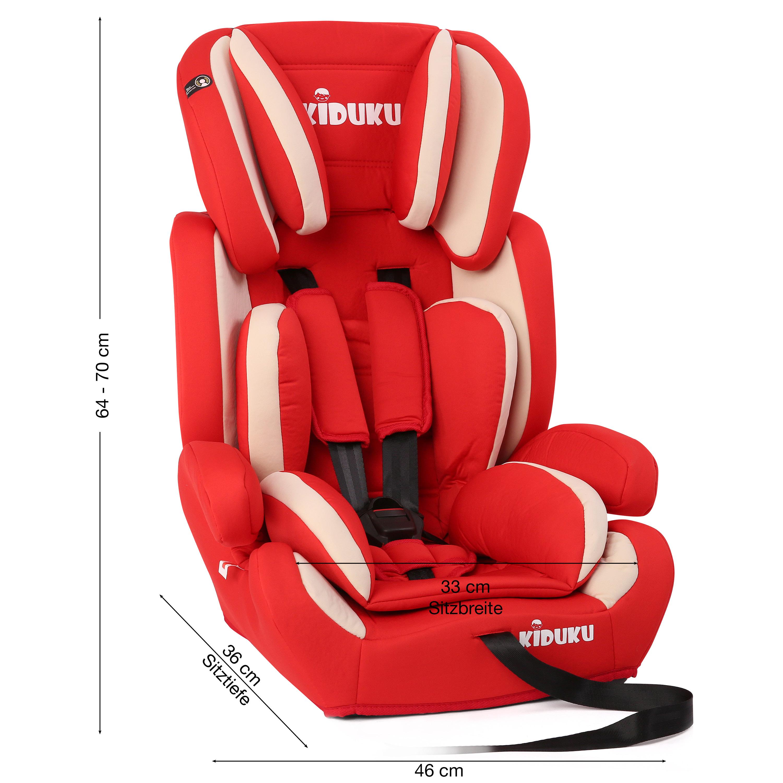 miniatura 13 - KIDUKU® Seggiolino auto cresce con il bambino sedile universale Gruppo 1+2+3