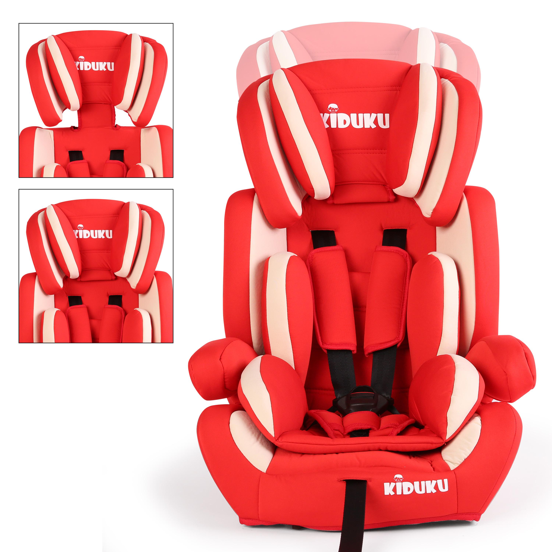 miniatura 15 - KIDUKU® Seggiolino auto cresce con il bambino sedile universale Gruppo 1+2+3