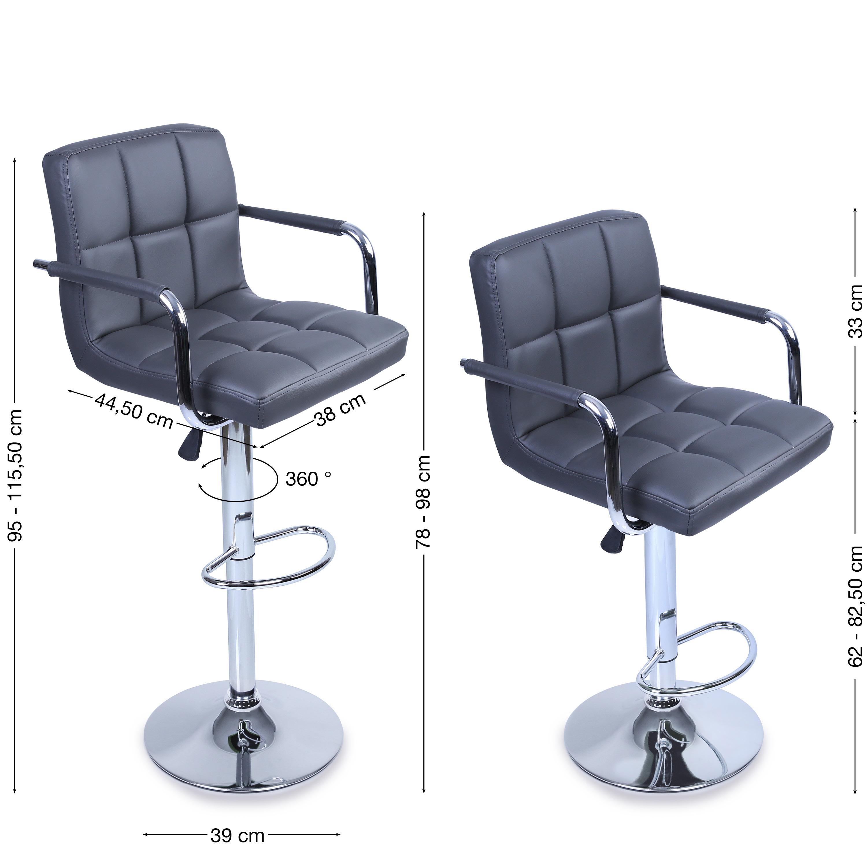 tresko lot de 2 tabourets de bar chaise de bar chaise fauteuil bistrot lounge ebay. Black Bedroom Furniture Sets. Home Design Ideas
