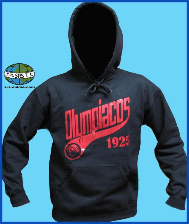 Details zu Olympiakos Piräus Olympiacos Hooded Sweatshirt Hellas Greece Super League