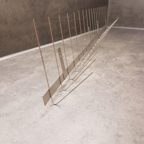 1 m für  Dachrinne Rinne  Edelstahl Taubenabwehr Vogelabwehr Taubenspikes