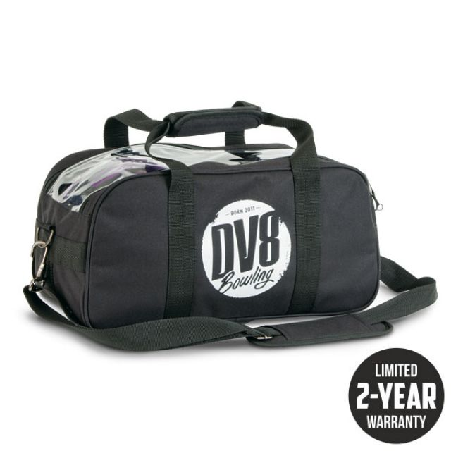 Bowling Ball Bag DV8 Tactic Double Tote Black Black For