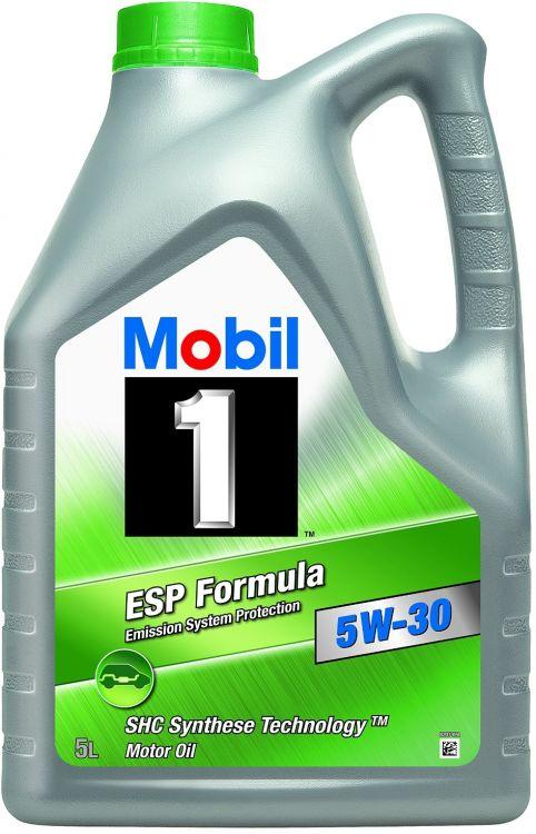 mobil 1 esp formula 5w 30 5 liter motor l bmw mercedes vw. Black Bedroom Furniture Sets. Home Design Ideas