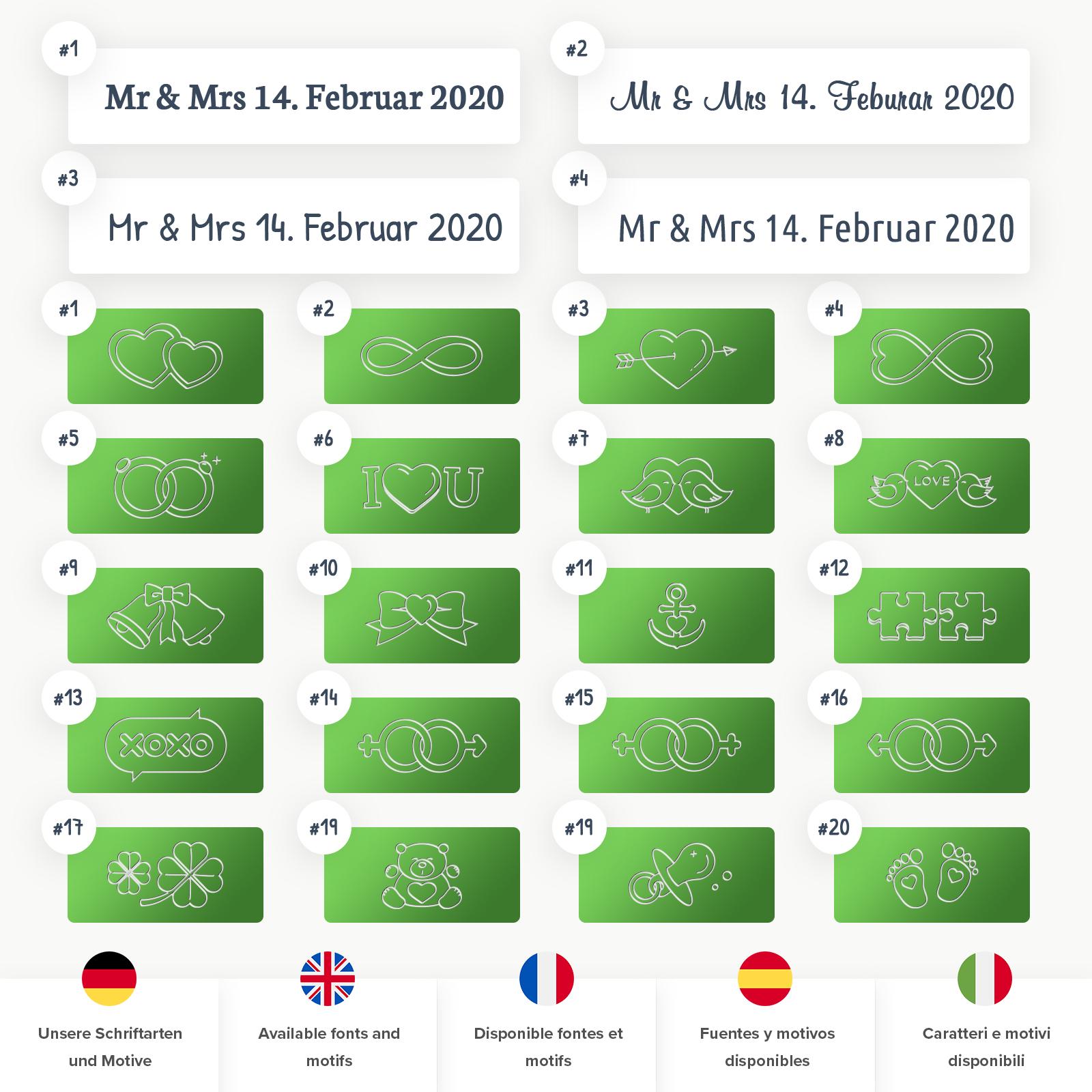 Indexbild 70 - Liebesschloss mit Gravur 10 Farben Liebes Schloss Wunschgravur Love Geschenkidee