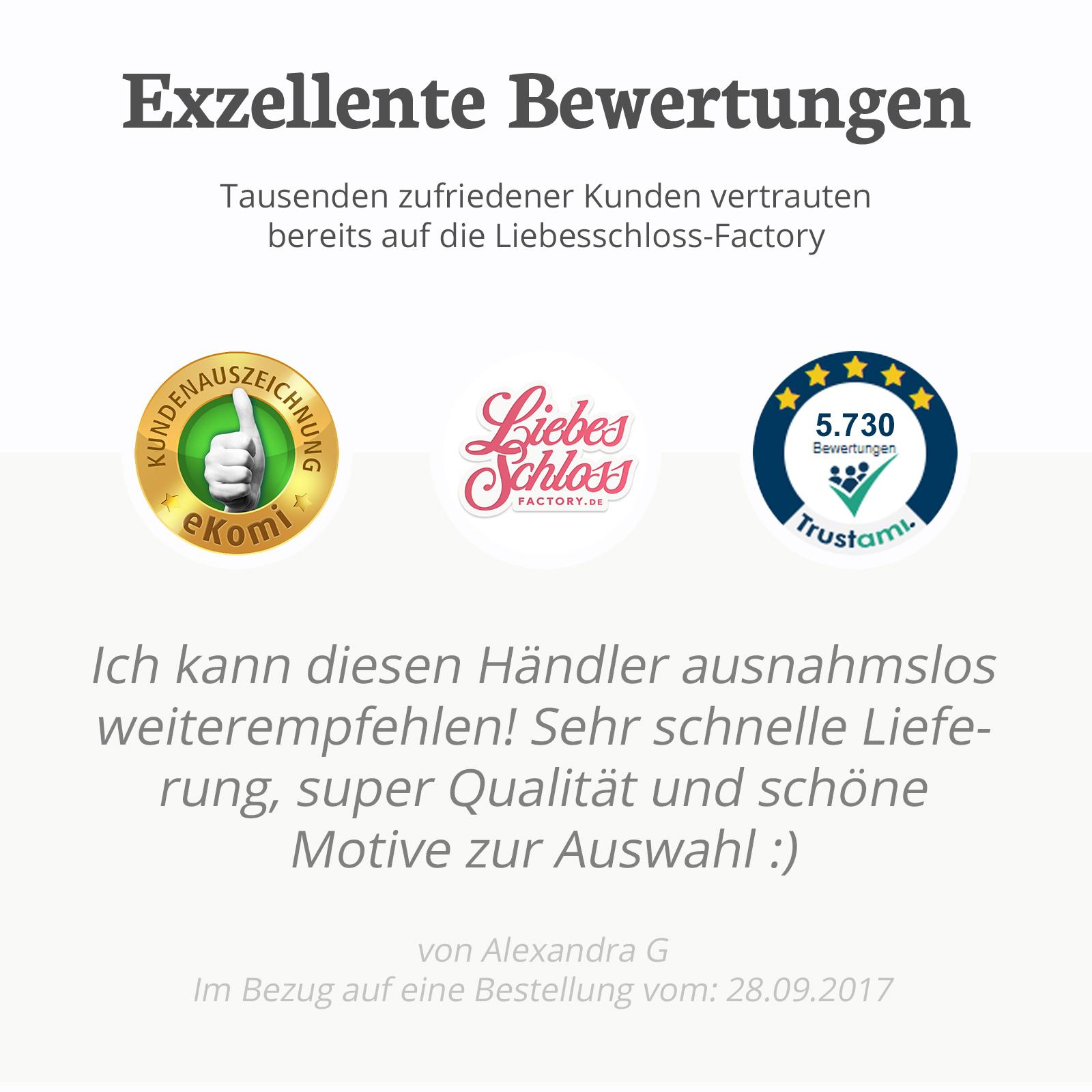 Indexbild 16 - Liebesschloss mit Gravur 10 Farben Liebes Schloss Wunschgravur Love Geschenkidee