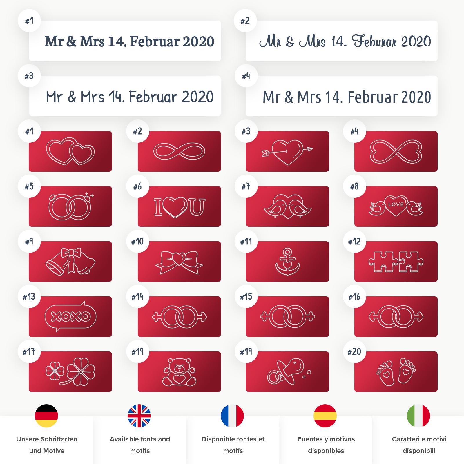 Indexbild 14 - Liebesschloss mit Gravur 10 Farben Liebes Schloss Wunschgravur Love Geschenkidee