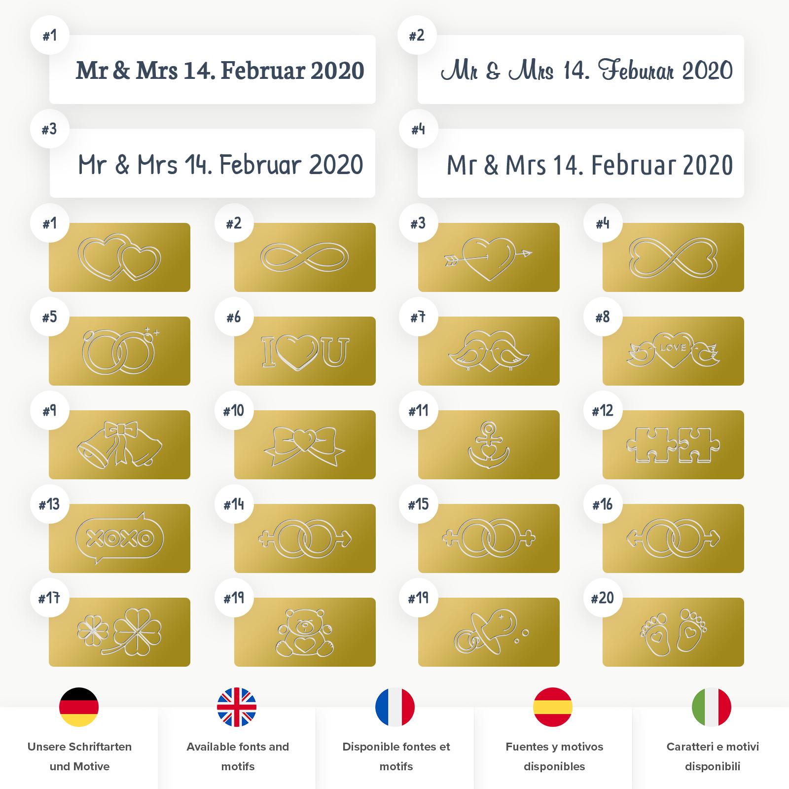 Indexbild 22 - Liebesschloss mit Gravur 10 Farben Liebes Schloss Wunschgravur Love Geschenkidee