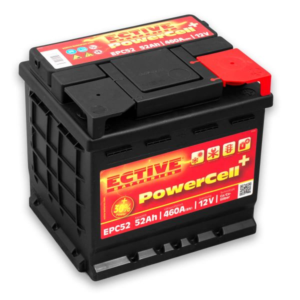 ective epc52 autobatterie 12v 52ah starterbatterie kfz. Black Bedroom Furniture Sets. Home Design Ideas