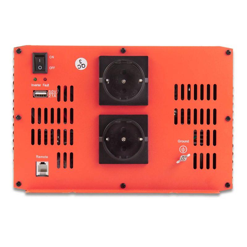 spannungswandler reiner sinus wechselrichter 230v inverter. Black Bedroom Furniture Sets. Home Design Ideas