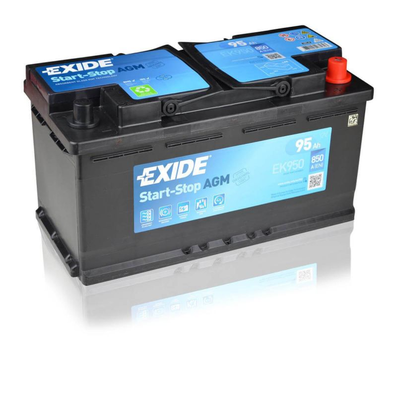 exide agm ek950 12v 95ah ready car battery start stop ebay. Black Bedroom Furniture Sets. Home Design Ideas