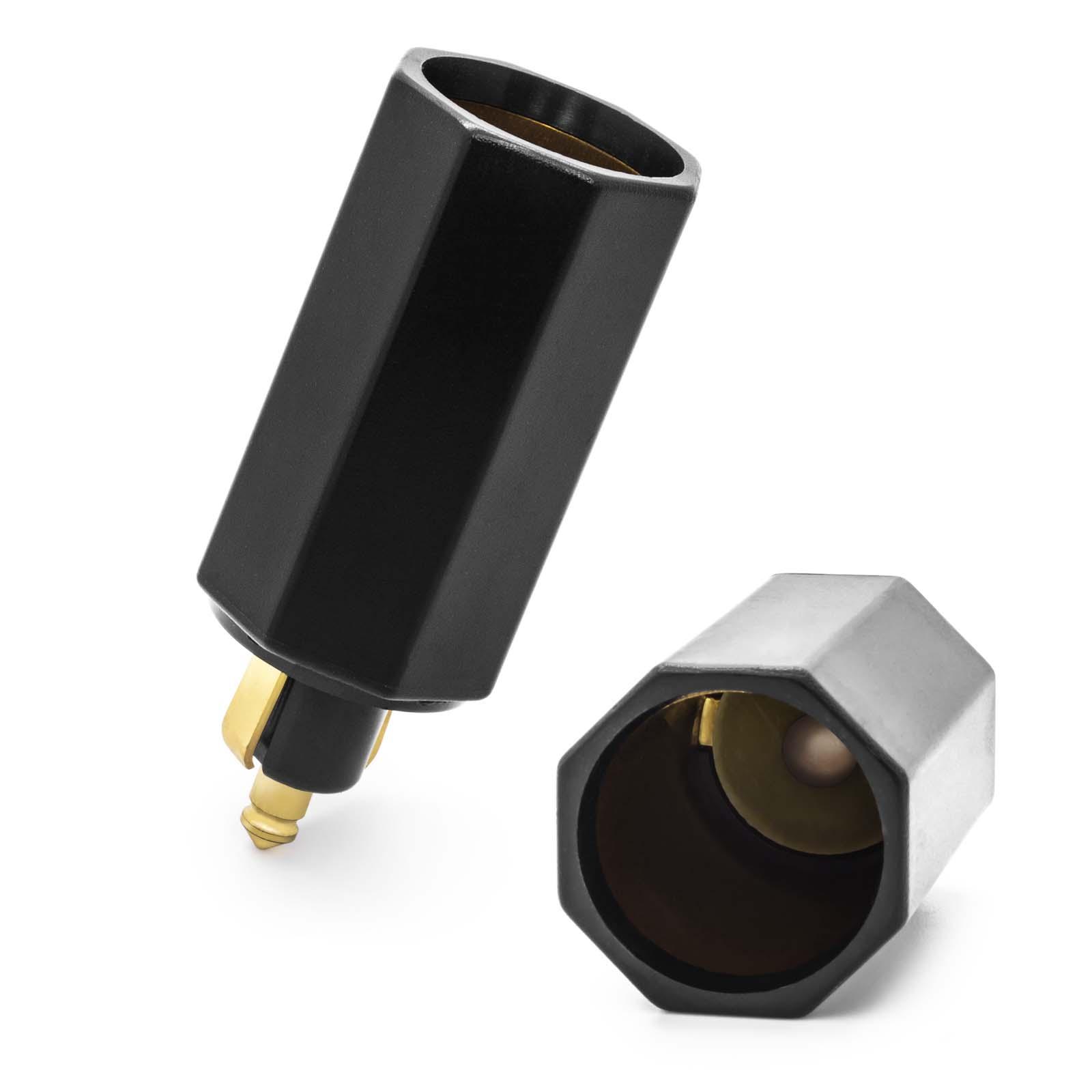 12V Adapter Zigarettenanzünder Stecker Buchse Normstecker 12 Volt Norm DIN