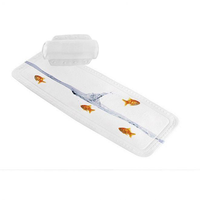 Anthrazite Sicherheits Duscheinlage Wannenmatte Nackenpolster Kleine Wolke AROSA