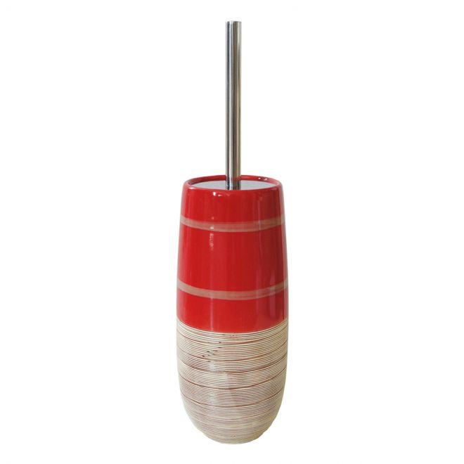 Détails sur Rouge Céramique Brosse Wc de Toilette Garniture pour Série  Salles Bains Corail