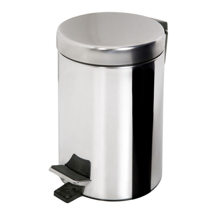 Treteimer Mülleimer Abfalleimer Pedaleimer Abfallsammler 12l aus Metall