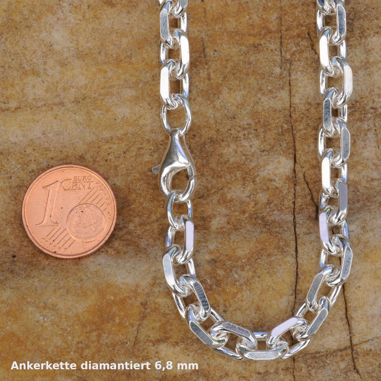 Cadena-de-plata-cadena-de-anclaje-diamantado-925-el-plata-masivamente-Sterling-plata-collar