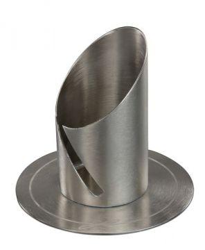 Kerzenständer EINZIGARTIG Silber Taufe Kommunion Modern Design Metall 90//40mm