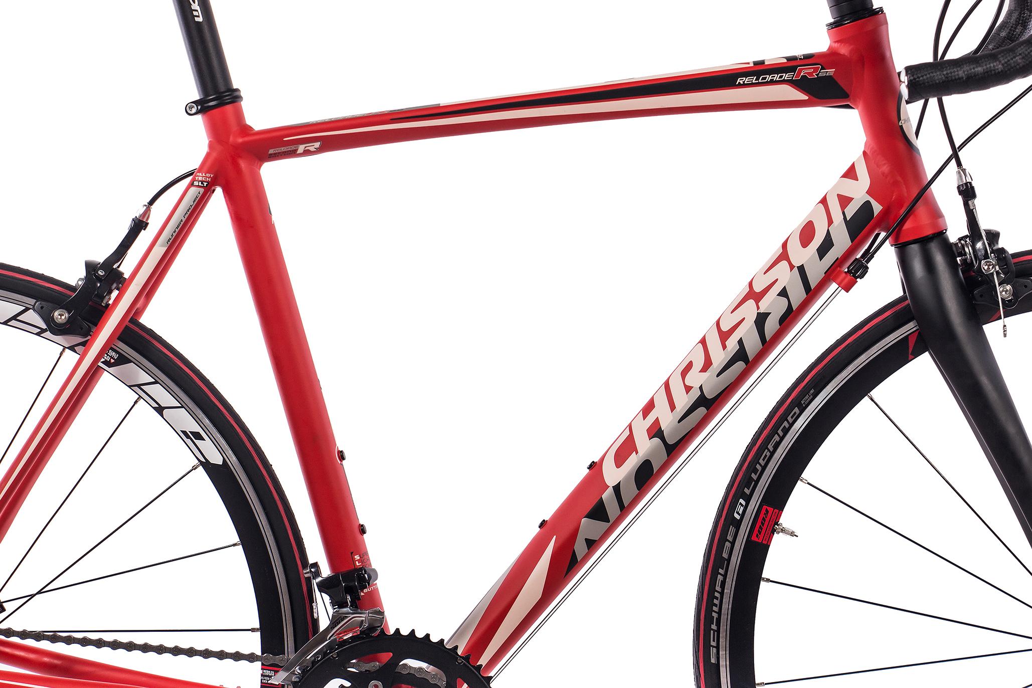 28-034-Zoll-ALU-Rennrad-Fahrrad-CHRISSON-RELOADER-mit-18G-SORA-CARBONGABEL-rot Indexbild 23