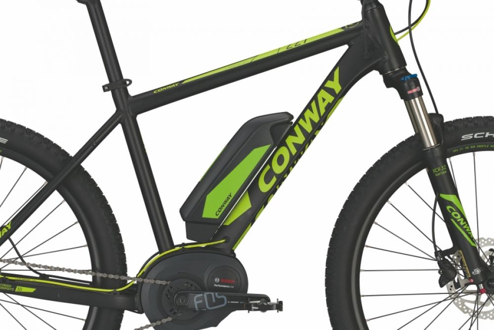 Spiksplinternieuw 27,5 Zoll E-BIKE Mountainbike CONWAY EMR 227 SE schwarz 9G SHIMANO YE-26